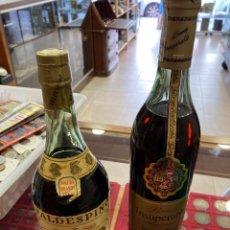 Coleccionismo de vinos y licores: LOTE DE 2 BOTELLAS DE BRANDY ANTIGUO. Lote 253475350
