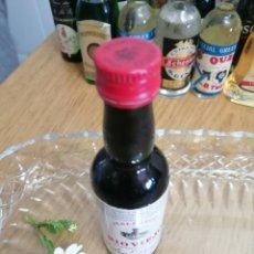 Coleccionismo de vinos y licores: BOTELLITA, BOTELLIN ANTIGUO DE VINO JEREZ SECO RÍO VIEJO. Lote 255392495