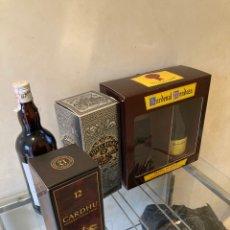 Coleccionismo de vinos y licores: LOTE DE 4 BOTELLAS 3 DE WISKY UNA DE BRANDY. Lote 257532345
