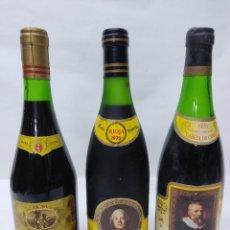 Coleccionismo de vinos y licores: LOTE DE TRES BOTELLAS DE VINO DE RIOJA. CAMPO VIEJO G.RESERVA 1970,FAUSTINO V 1970 Y FAUSTINO VII.. Lote 260704775