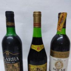 Coleccionismo de vinos y licores: 3 BOTELLAS DE VINO DE RIOJA.OLAARRA 1970 RESERVA,CAMPO VIEJO RESERVA 1970 Y SAMANIEGO RESERVA 70. Lote 260706275