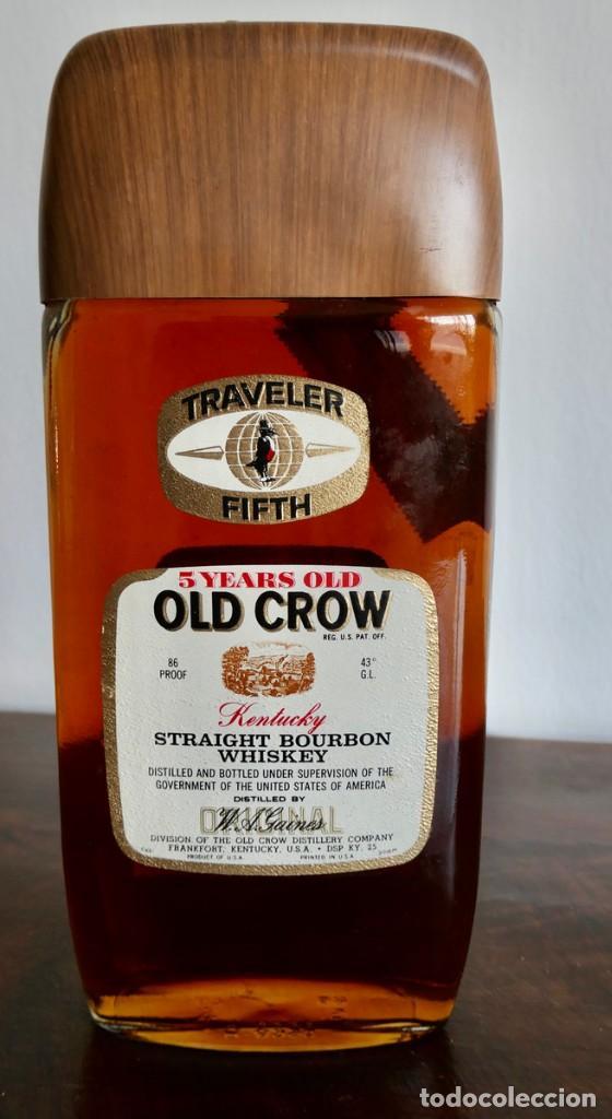 ANTIGUA BOTELLA DE OLD CROW KENTUCKY STRAIGHT BOURBON WHISKEY- SIN ABRIR (Coleccionismo - Botellas y Bebidas - Vinos, Licores y Aguardientes)