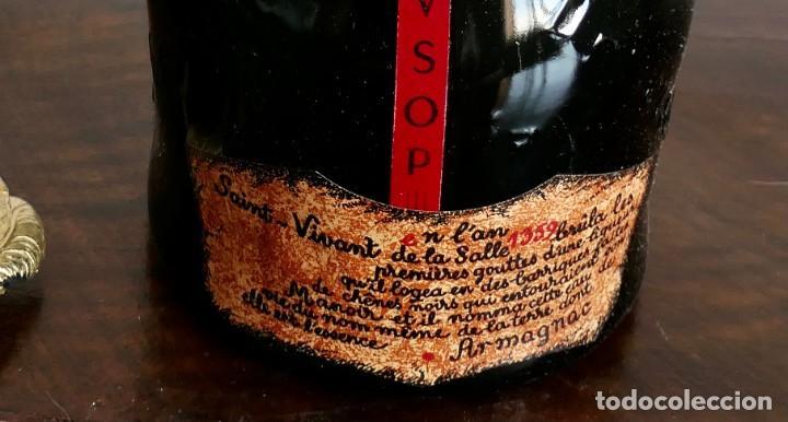 Coleccionismo de vinos y licores: Antigua botella de Brandy Llena y en su Caja - Saint Vivant. Armagnac VSOP - Francia - Foto 3 - 261243960