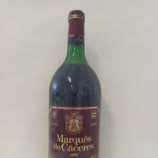 Coleccionismo de vinos y licores: MAGNUM MARQUÉS DE CÁCERES 1982. Lote 262932570