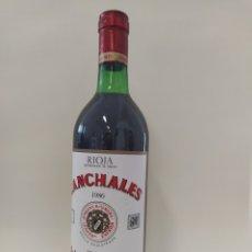 Coleccionismo de vinos y licores: CANCHALES 1986 BODEGAS RIOJANAS. Lote 262934000