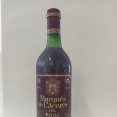Coleccionismo de vinos y licores: MARQUÉS CÁCERES 1982. Lote 262934740