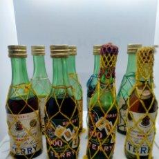 Collectionnisme de vins et liqueurs: LOTE LIQUIDACIÓN COLECCIÓN 8 BOTELLITAS BRANDY TERRY BOTELLÍN MINI BOTELLA. Lote 264227036