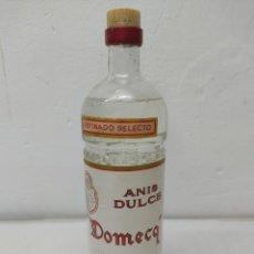 Coleccionismo de vinos y licores: ANTIGUA BOTELLA ANÍS DULCE DOMECQ.PEDRO DOMECQ.JEREZ DE LA FRONTERA.30 CM SIN ABRIR. Lote 265151974