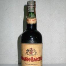 Coleccionismo de vinos y licores: ANTIGUA BOTELLA VINO DULCE NEGRO.FERNANDO BARCELÓ.MÁLAGA. Lote 266289778