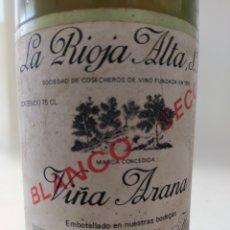 Collezionismo di vini e liquori: VIÑA ARANA BLANCO SECO 1978 LA RIOJA ALTA. Lote 268454994