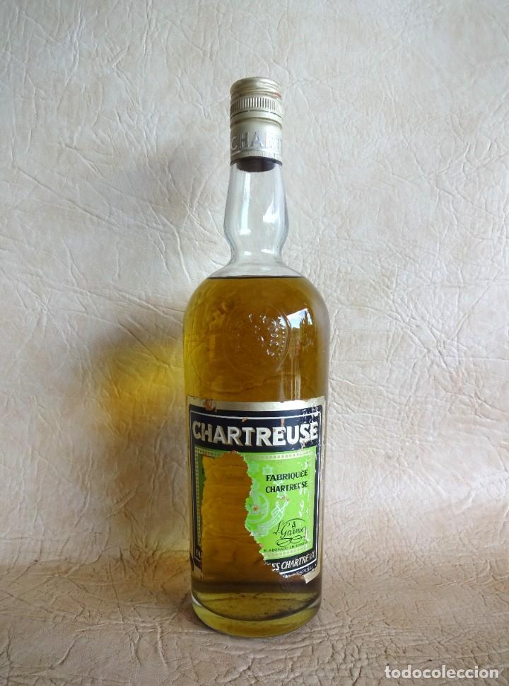 ANTIGUA BOTELLA CHARTREUSE TARRAGONA VERDE SIN ABRIR! (Coleccionismo - Botellas y Bebidas - Vinos, Licores y Aguardientes)