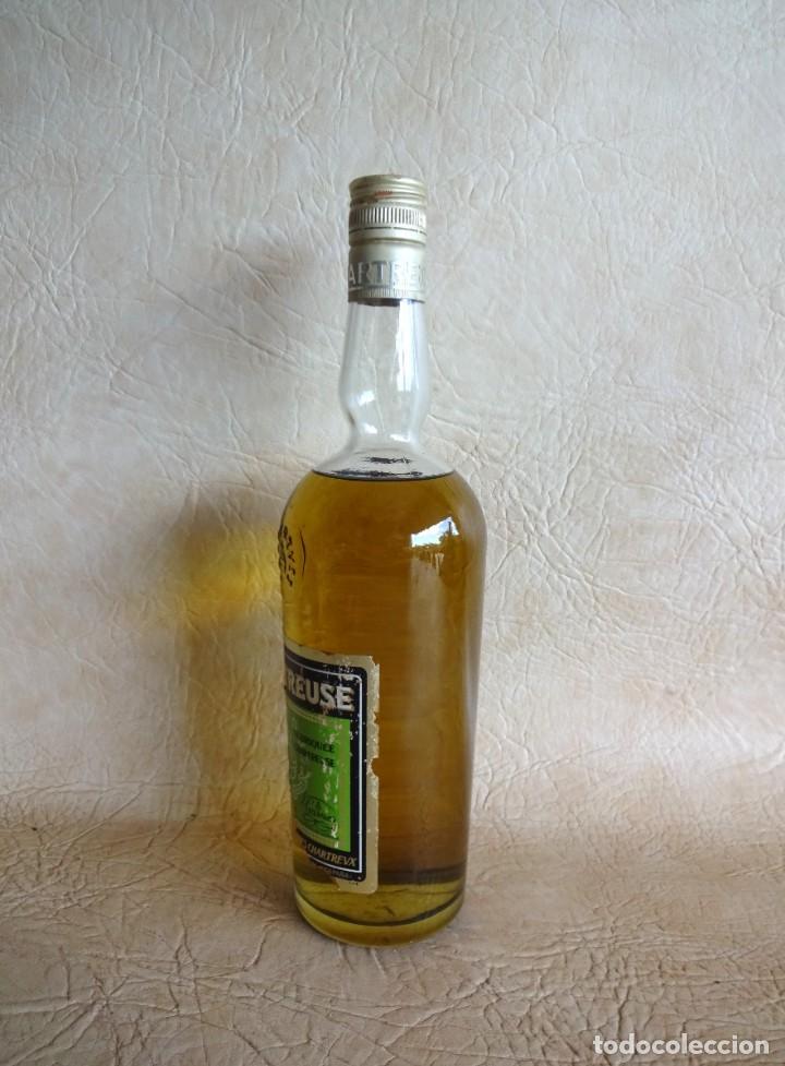 Coleccionismo de vinos y licores: ANTIGUA BOTELLA CHARTREUSE TARRAGONA VERDE SIN ABRIR! - Foto 4 - 272439663