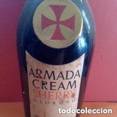 Colecionismo de vinhos e licores: BOTELLA ANTIGUA VINO OLOROSO ARMADA CREAM SANDEMAN- ETIQUETADO UNICO, NUMERADA.SIN ABRIR. Lote 276127693