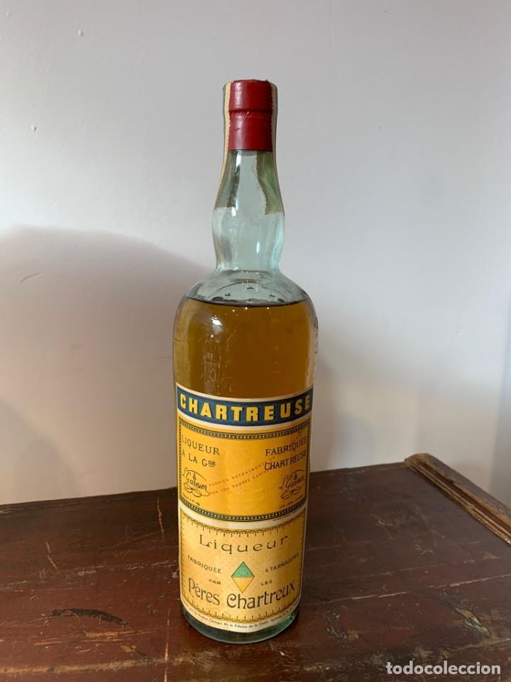 """CHARTREUSE TARRAGONA 1969 """"LICOR CUMBRE"""" (Coleccionismo - Botellas y Bebidas - Vinos, Licores y Aguardientes)"""