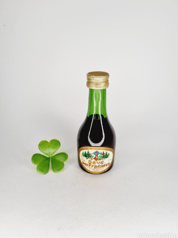 BOTELLITA SEVE DES PYRENEES 9.1CM VIDRIO BOTELLIN (Coleccionismo - Botellas y Bebidas - Vinos, Licores y Aguardientes)