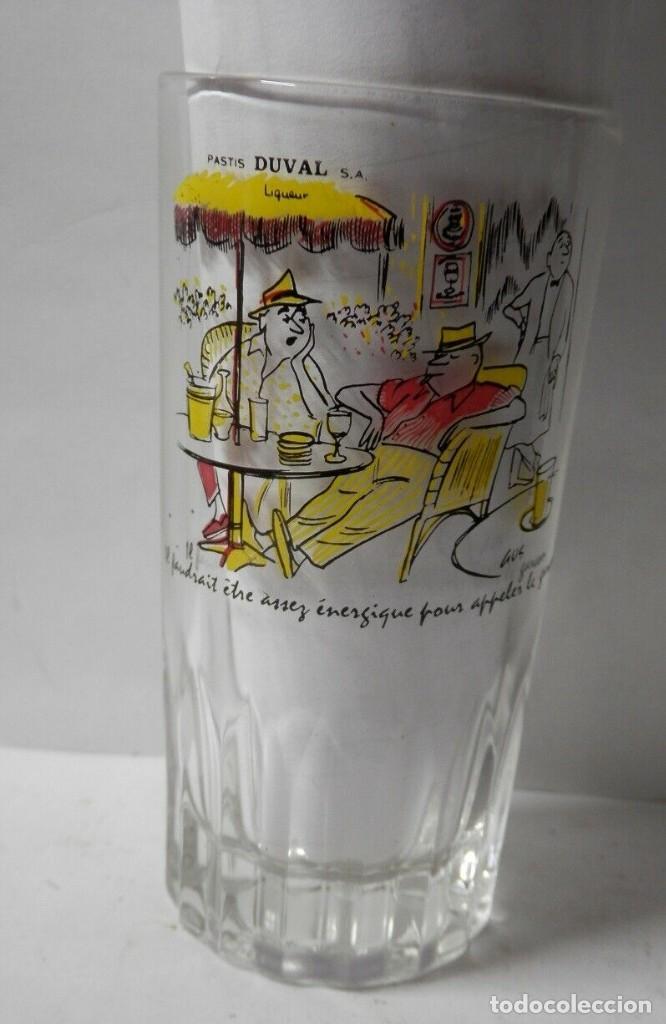 VASO ANTIGUO DEL PASTIS DUVAL (Coleccionismo - Botellas y Bebidas - Vinos, Licores y Aguardientes)