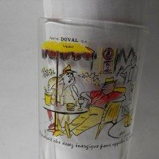Coleccionismo de vinos y licores: VASO ANTIGUO DEL PASTIS DUVAL. Lote 277648213