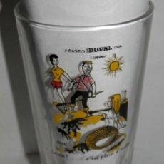 Coleccionismo de vinos y licores: VASO ANTIGUO DEL PASTIS DUVAL. Lote 277648343