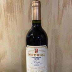 Coleccionismo de vinos y licores: VINO IMPERIAL RESERVA 1998. Lote 278220848