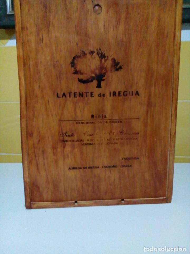 ANTIGUA CAJA DE MADERA PARA TRES BOTELLAS DE VINO (Coleccionismo - Botellas y Bebidas - Vinos, Licores y Aguardientes)