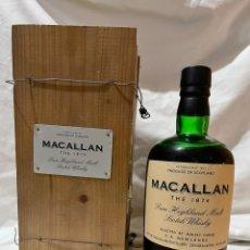 Coleccionismo de vinos y licores: THE MACALLAN REPLICA 1874. Lote 278428788