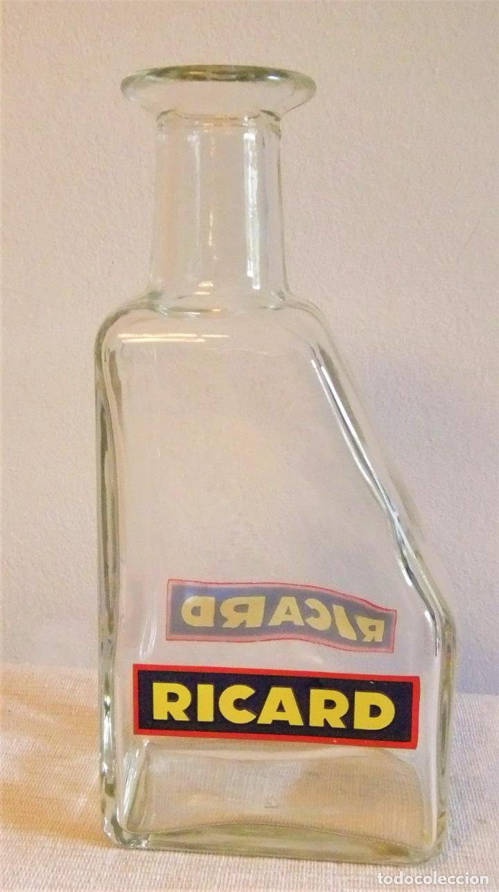 Coleccionismo de vinos y licores: BOTELLA JARRA DE CRISTAL DE RICARD PARA EL AGUA - Foto 2 - 280504948