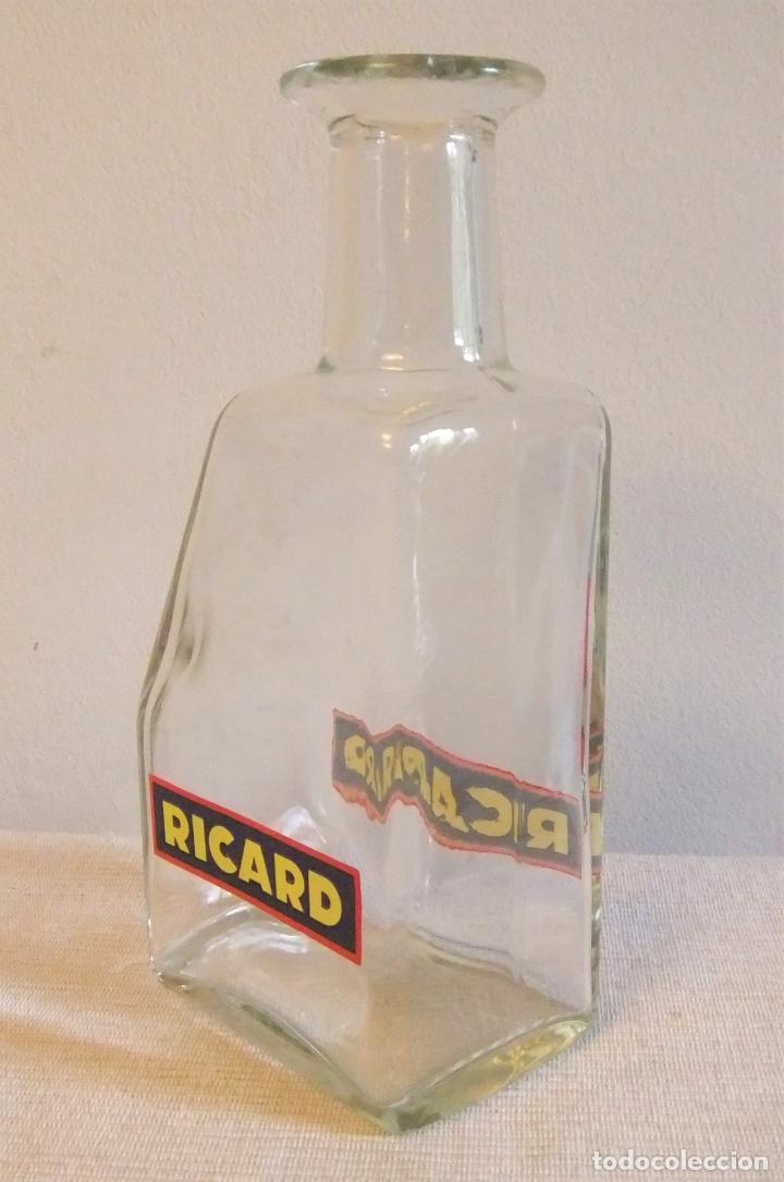 Coleccionismo de vinos y licores: BOTELLA JARRA DE CRISTAL DE RICARD PARA EL AGUA - Foto 4 - 280504948