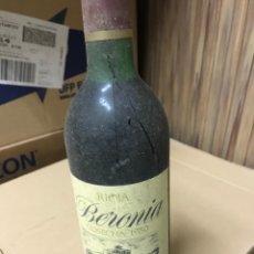 Coleccionismo de vinos y licores: BOTE DE VINO RIOJA BERONIA RESERVA 1980. Lote 280513693