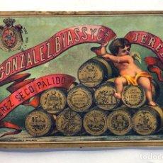 Collectionnisme de vins et liqueurs: ANTIGUA ETIQUETA ( SIGLO XIX ) GONZALEZ BYASS Y CIA. / JEREZ SECO PÁLIDO / LIT. BARCO Y GUTIERREZ. Lote 287342158