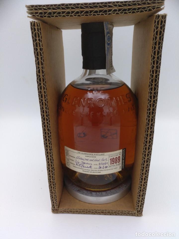 BOTELLA WHISKY GLENRHOTES 1989 (Coleccionismo - Botellas y Bebidas - Vinos, Licores y Aguardientes)