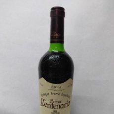 Coleccionismo de vinos y licores: BOTELLA VINO RIOJA GRAN RESERVA 1990 PRIMER CENTENARIO BODEGAS FRANCO ESPAÑOLAS. Lote 287771978