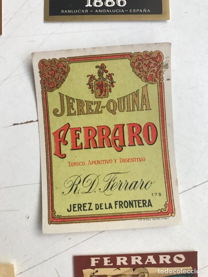 Coleccionismo de vinos y licores: 21 ETIQUETAS DIFERENTES LICOR, BRANDY, JEREZ, VERMUT DE SANLUCAR DE BARRAMEDA Y JEREZ DE LA FRONTERA - Foto 14 - 287837788
