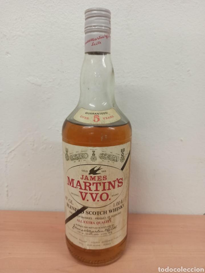 Coleccionismo de vinos y licores: lote de 3 botellas de Licor 43 , whisky Martíns , y estomacal precintadas sin uso - Foto 5 - 288557488