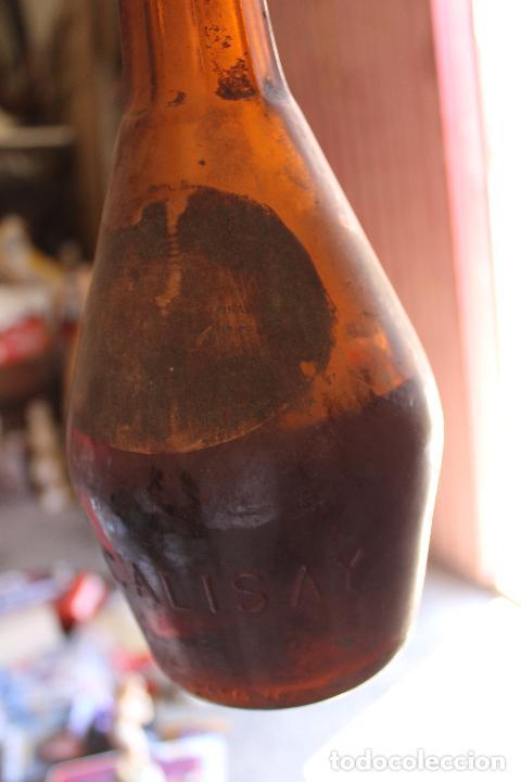 Coleccionismo de vinos y licores: ANTIGUA BOTELLA DE LICOR CALISAY . FERROQUINA. ARENYS DE MAR. PRECINTADA. - Foto 5 - 288603768