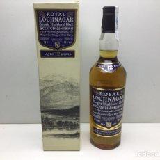 Coleccionismo de vinos y licores: BOTELLA WHISKY ROYAL LOCHNAGAR 12 AÑOS - SINGLE HIGHLAND MALT. Lote 289217288