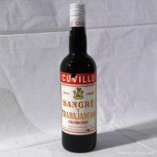 Coleccionismo de vinos y licores: BOTELLA DE JEREZ CUVILLO SANGRE Y TRABAJADERO. Lote 289503178