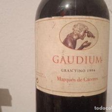 """Coleccionismo de vinos y licores: MARQUES DE CACERES """"GAUDIUM"""" RESERVA 1994. EDICION LIMITADA.. Lote 290926038"""