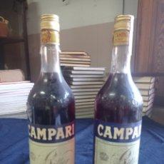 Colecionismo de vinhos e licores: 2 BOTELLAS CAMPARI BITTER SIN ABRIR. Lote 294990278