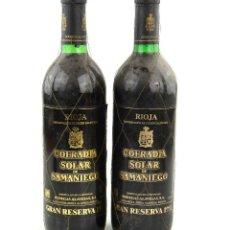Coleccionismo de vinos y licores: COFRADIA SOLAR DE SAMANIEGO - GRAN RESERVA 1987. RIOJA. 2 BOTELLAS. Lote 295047133