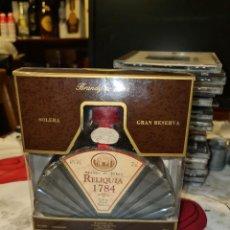 Coleccionismo de vinos y licores: BRANDY DE JEREZ SOLERA GRAN RESERVA RELIQUIA 1784. Lote 296001978
