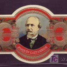 Vitolas de colección: CONDAL, COMPOSITORES ESPAÑOLES, SIGLO XIX, ERROR, JOAQUIN GAZTAMBIDE.. Lote 47028555