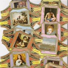 Vitolas de colección: ALVARO . COLECCION CUADROS DE PINTORES ESPAÑOLES *27 VITOLAS*. Lote 11132930