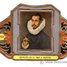 Vitolas de colección: VITOLA VITOLAS ALVARO CUADROS PINTORES ESPAÑOLES SERIE II RETRATO DE SU HIJO MANUEL EL GRECO. Lote 13728554