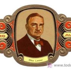 Vitolas de colección: ALVARO VITOLA VITOLAS PREMIOS NOBEL MEDICINA Y FSIOLOGIA 39 OTTO LÖEWI. Lote 13728742