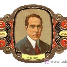 Vitolas de colección: ALVARO VITOLA VITOLAS PREMIOS NOBEL MEDICINA Y FSIOLOGIA 26 NIELS BOHR. Lote 13728771