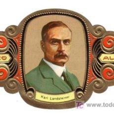 Vitolas de colección: ALVARO VITOLA VITOLAS PREMIOS NOBEL MEDICINA Y FSIOLOGIA 29 KARL LANDSTEINER. Lote 13728795