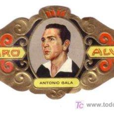 Vitolas de colección: ALVARO VITOLA SERIE LITERATOS Nº 188 ANTONIO GALA. Lote 13743797
