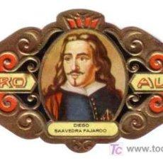 Vitolas de colección: ALVARO VITOLA SERIE LITERATOS Nº 41 DIEGO SAAVEDRA. Lote 13743841