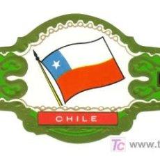 Vitolas de colección: CIGARROS LOPEZ GOMEZ SERIE BANDERAS DE AMERICA Nº 5 CHILE VITOLA VITOLAS. Lote 13772876