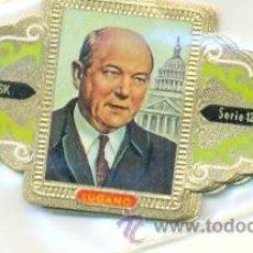 Vitolas de colección: VITOLA14-942. VITOLAS LUGANO POLITICOS SERIE 12, 10 VITOLAS. Lote 15561263